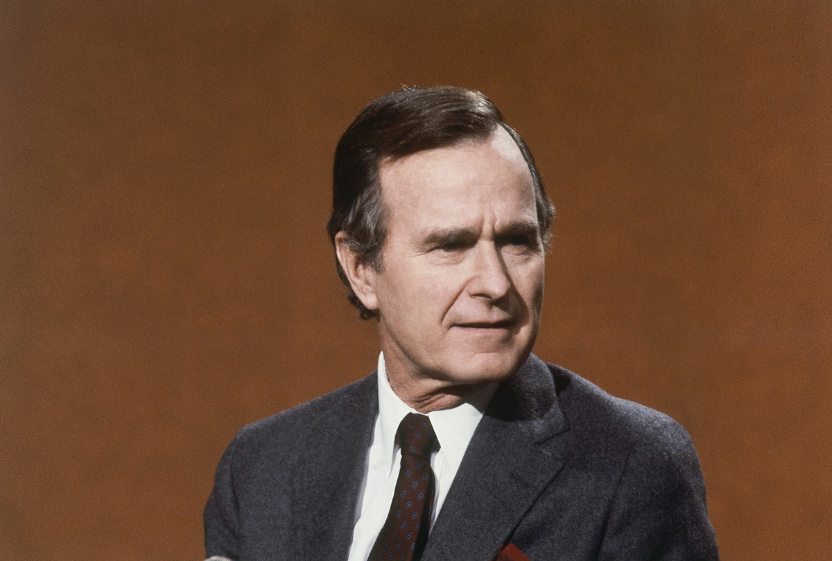George H. Bush, February 5, 1984. (AP Photo)