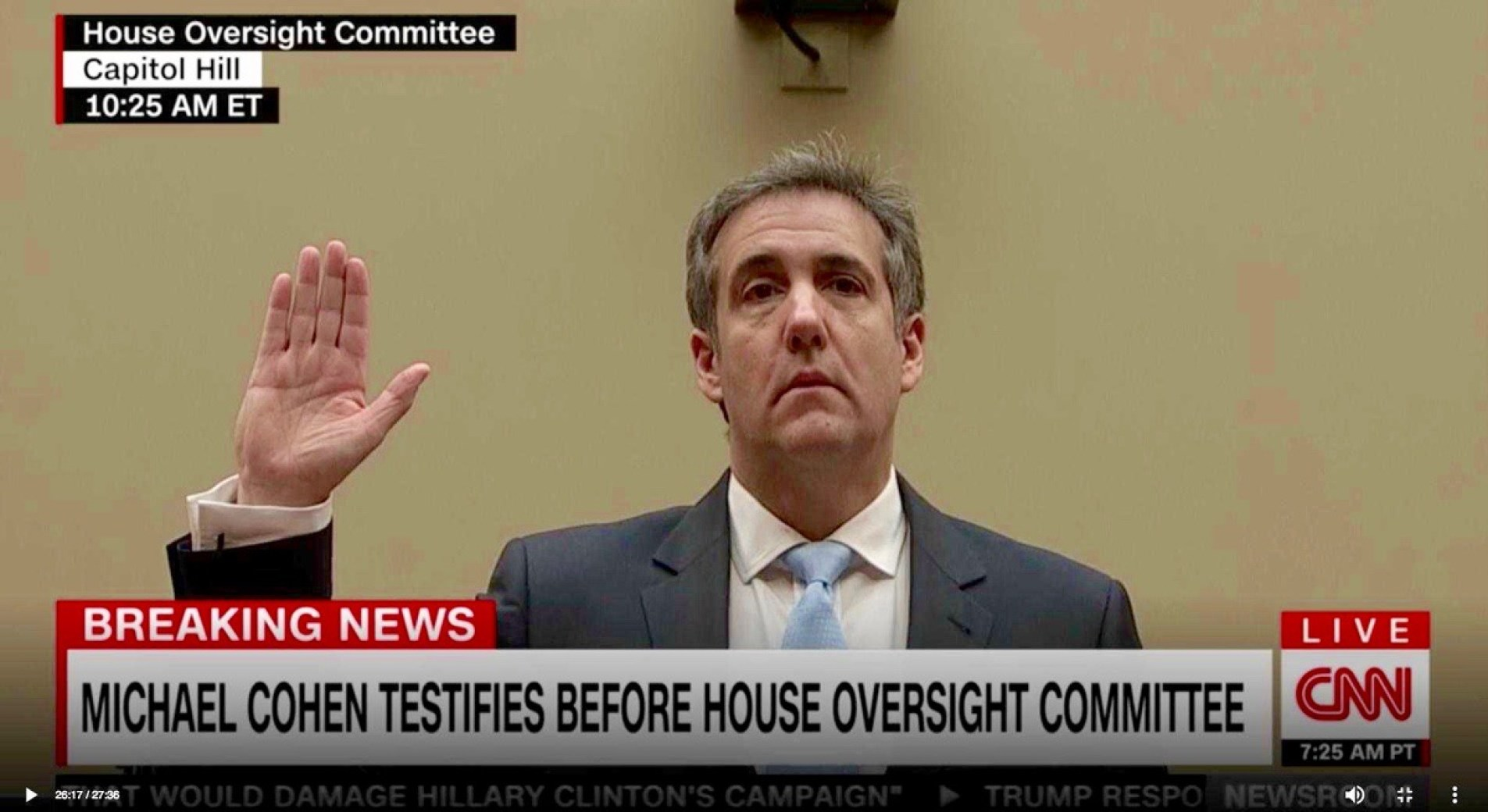Trump's former personal lawyer Michael Cohen - February 27, 2019
