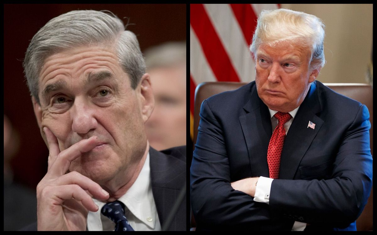 Special Counsel Robert Mueller and President Donald Trump (AP)