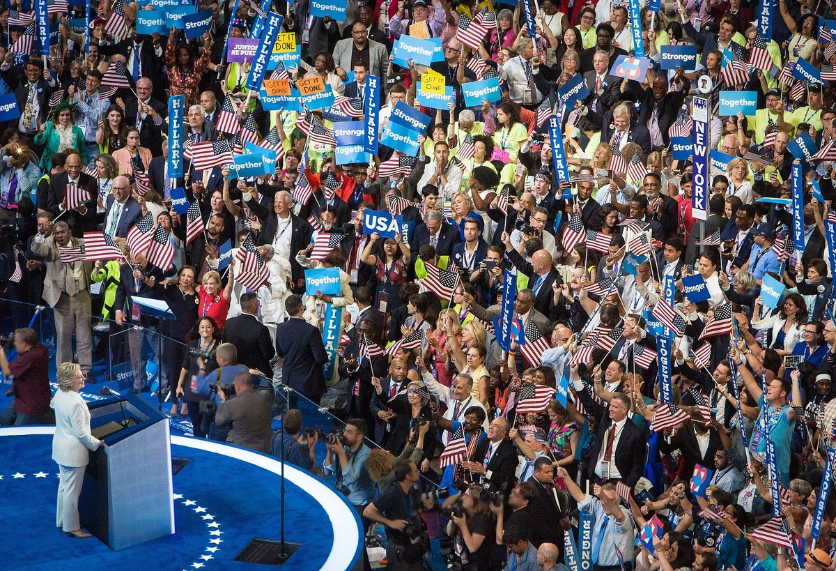Hillary Clinton Speech at Democratic National Convention - July 28, 2016. (Maggie Hallahan)