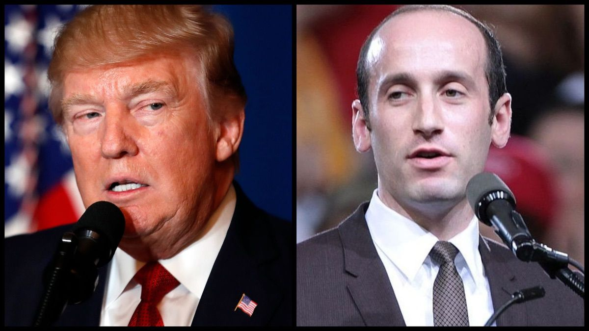 President Trump and Senior White House Adviser Stephen Miller (AP)