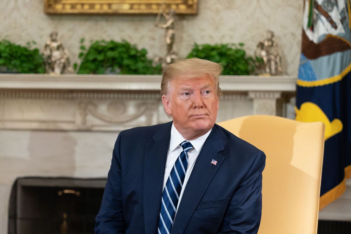 President Donald J. Trump meets with Canadian Prime Minister Justin Trudeau Thursday, June 20, 2019, in the Oval Office of the White House. (Source: White House)