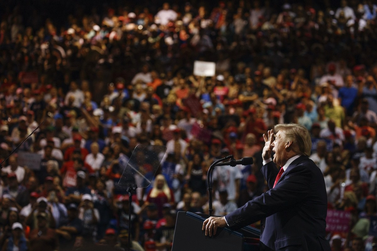President Donald Trump speaks during a campaign rally at Florida State Fairgrounds Expo Hall, Tuesday, July 31, 2018, in Tampa, Fla. (AP Photo/Evan Vucci)