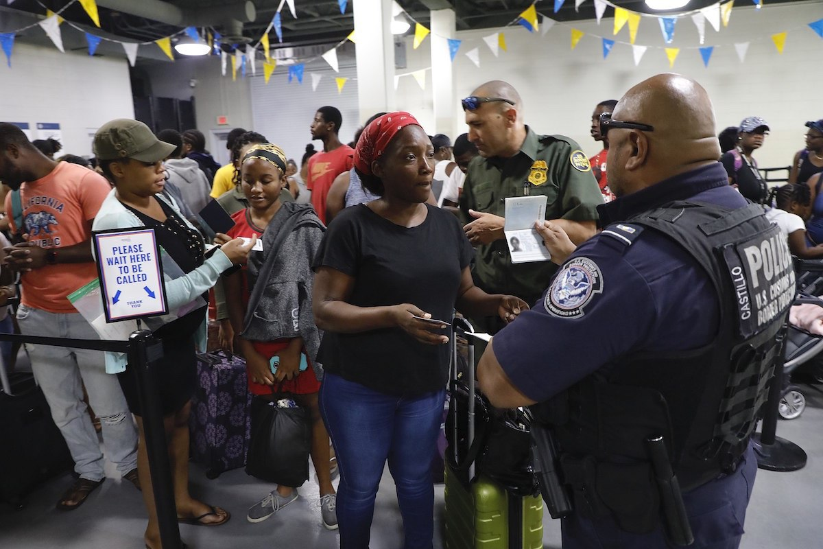 U.S. Customs and Border Protection processing travelers fleeing the Bahamas following the devastating impact of Hurricane Dorian – Port of Palm Beach, Fla., Sept. 7 2019. (CBP photo by Jaime Rodriguez Sr.)