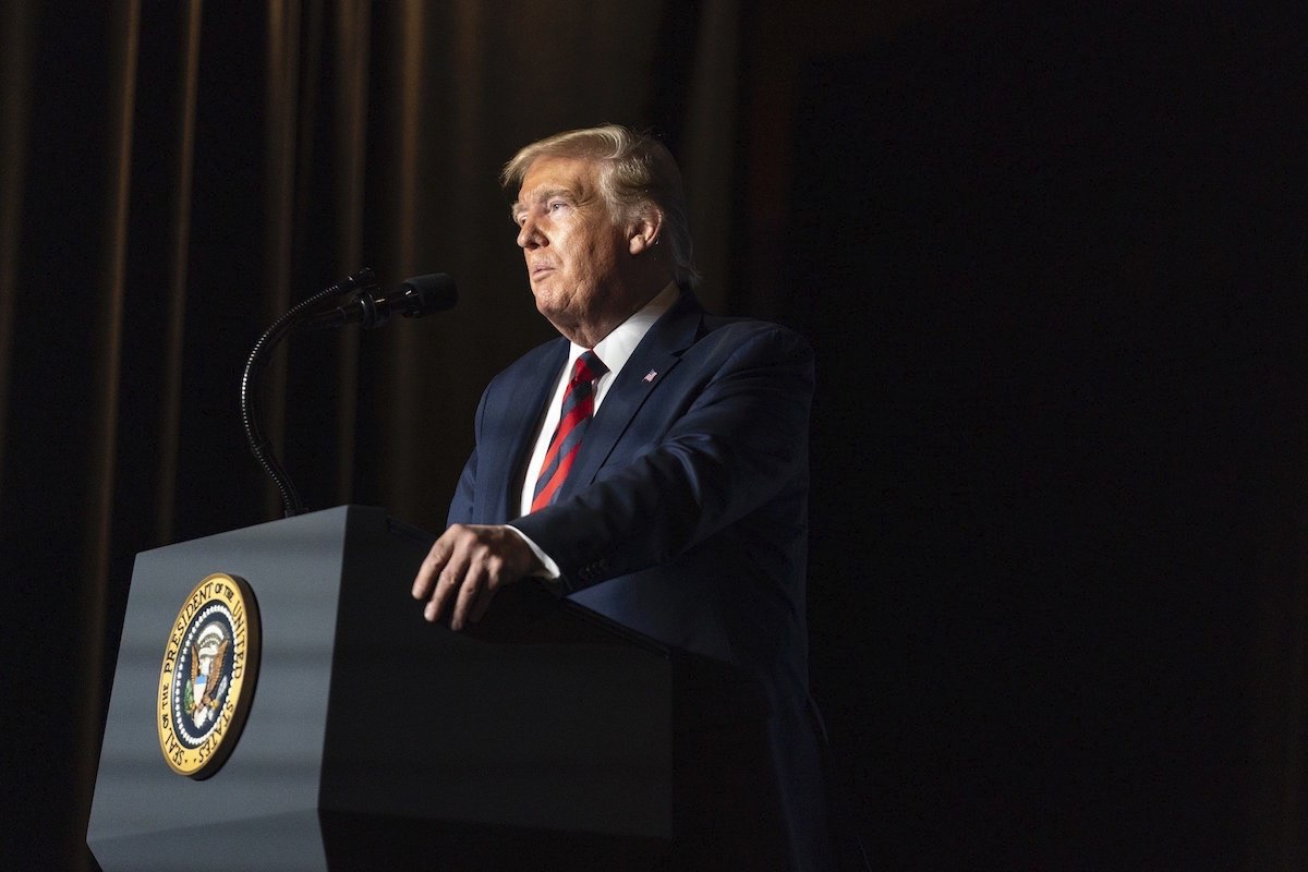 President Donald J. Trump delivers remarks on Tuesday, Sep. 10, 2019, at the Renaissance Hotel in Washington, D.C. (Official White House Photo Shealah Craighead)