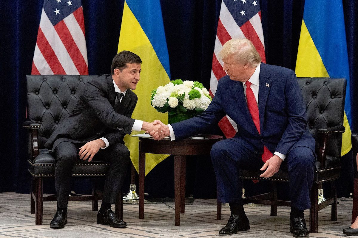 President Volodymyr Zelensky meets with President Donald Trump at the UN General Assembly – September 25, 2019 (Source: The Presidential Office of Ukraine)