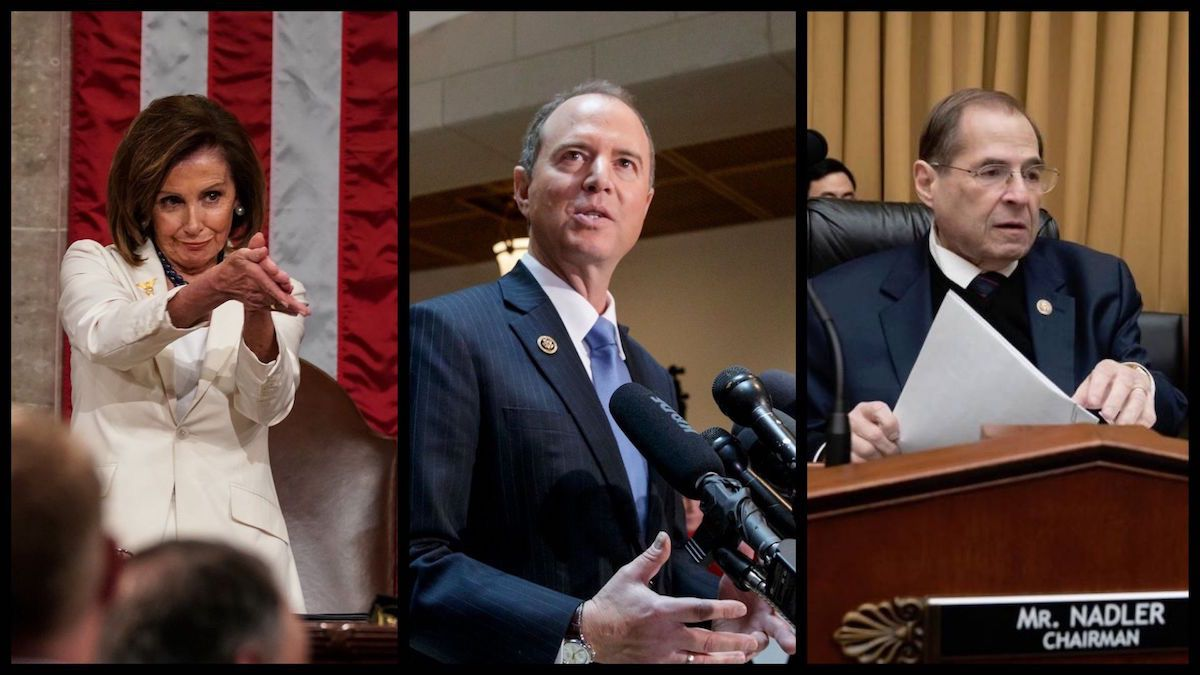 Speaker of the House Nancy Pelosi (D-CA), House Intelligence Chairman Adam Schiff (D-CA), and House Judiciary Chairman Jerry Nadler (D-NY) - Associated Press