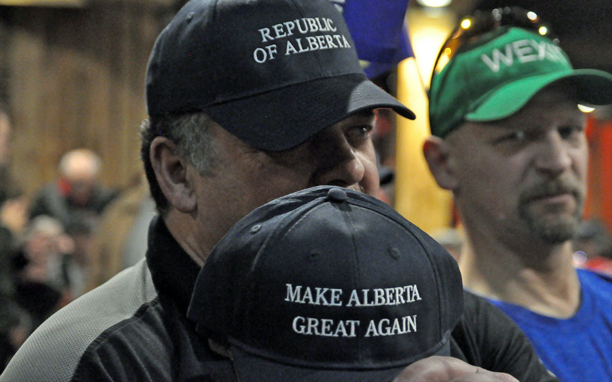Albertans attending a Wexit rally in Edmonton, AB (Toronto Star)