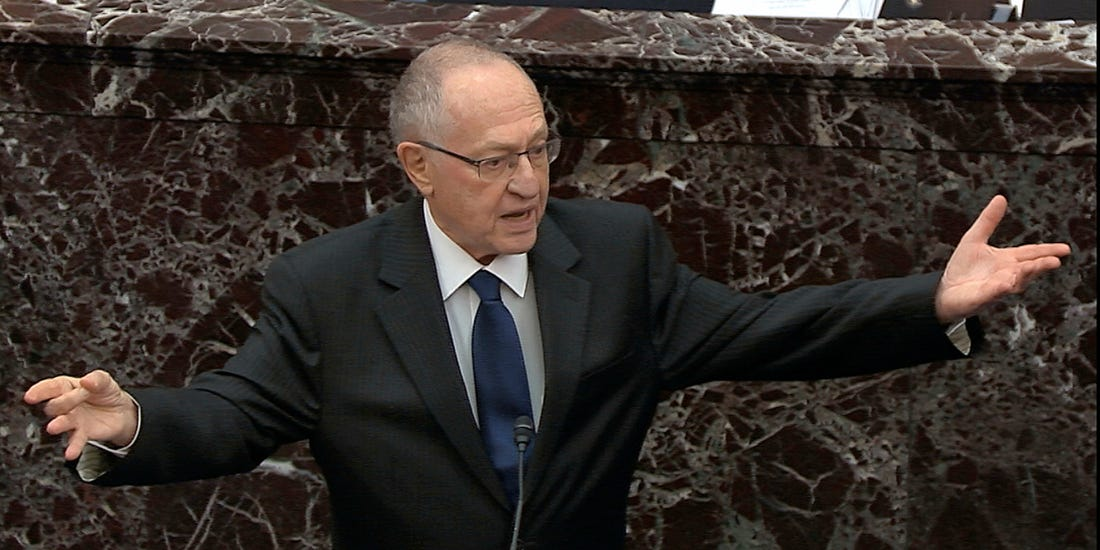 Alan Dershowitz at Trump's Senate impeachment trial