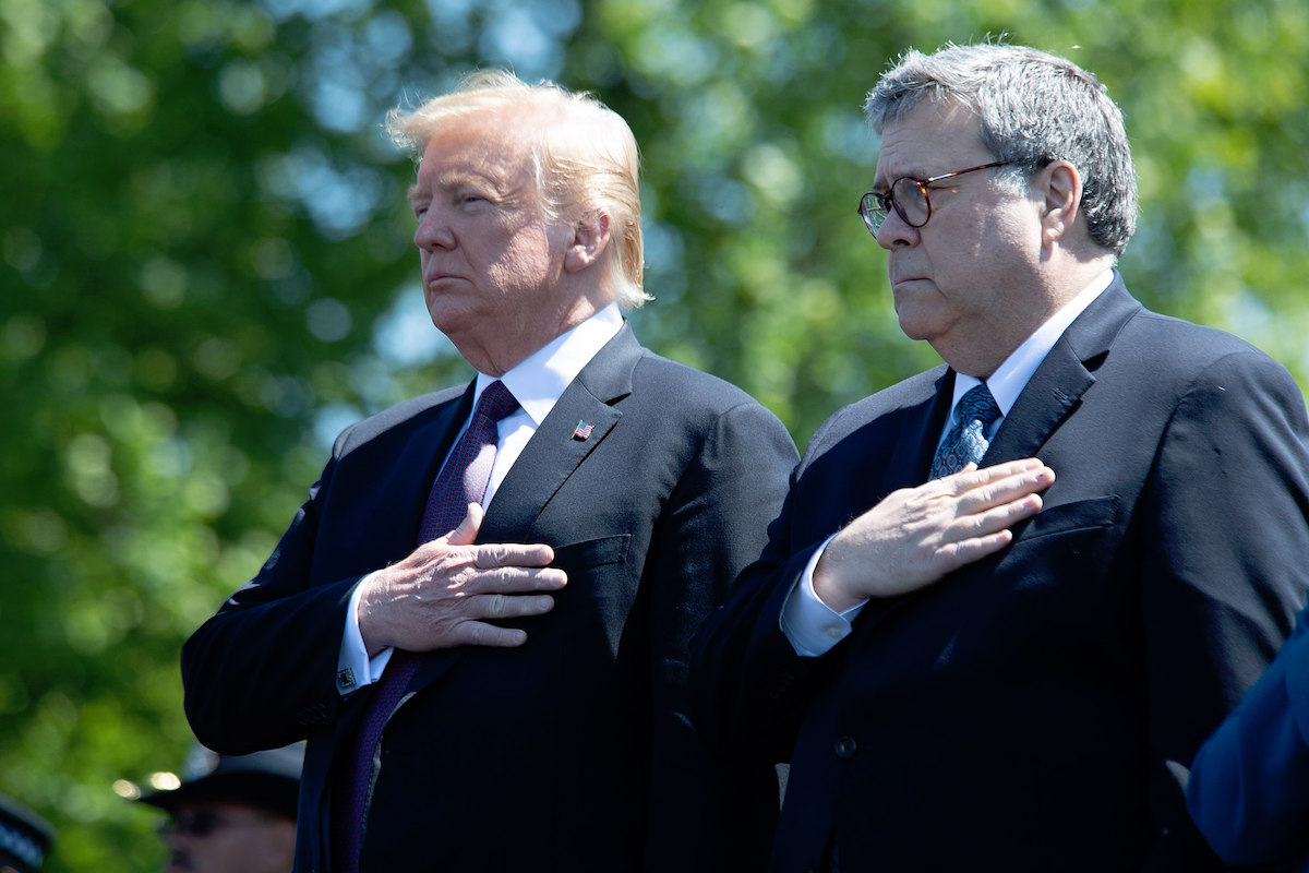President Donald Trump and Attorney General William Barr – May 15, 2019 (Office of Public Affairs from Washington DC)