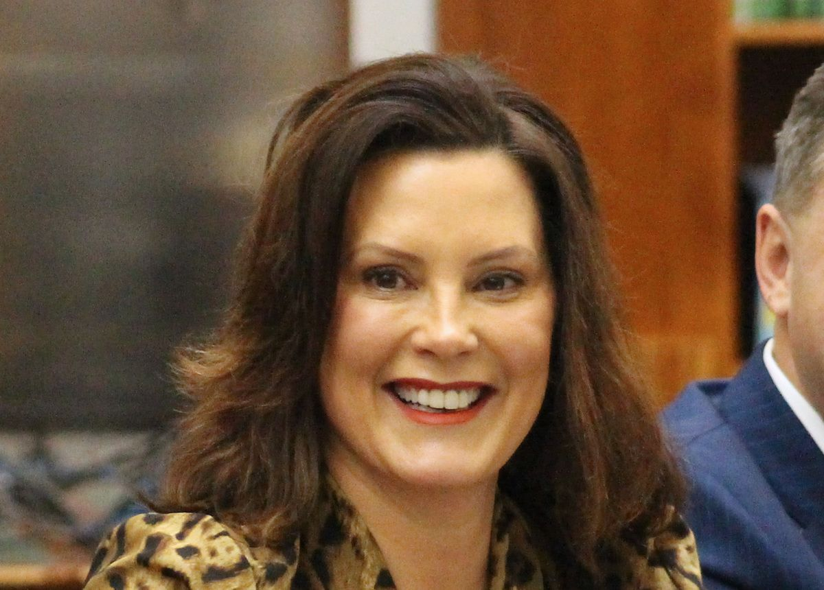 Gov. Gretchen Whitmer at round table with High School students – January 13, 2020 (Julia Pickett/Creative Commons License)