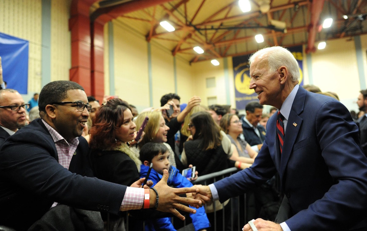 Former Vice President Joe Biden at a Hartford rally in Connecticut – October 26. 2018 (Source: United State Senate – the Office of Chris Murphy)