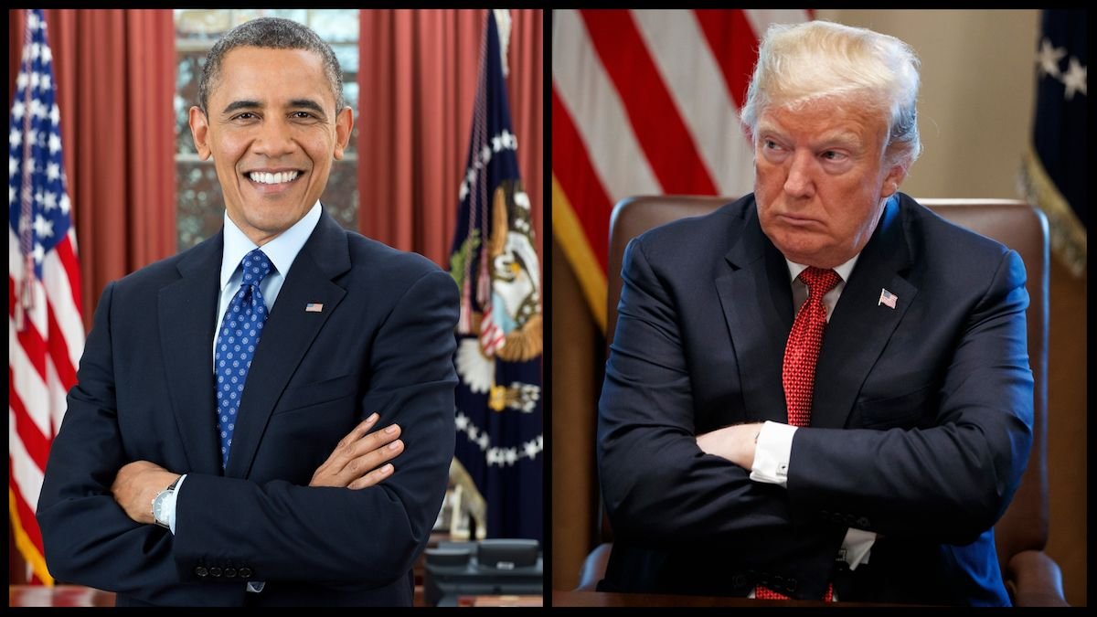 President Barack Obama (Official White House Photo) and President Donald Trump (Associated Press)