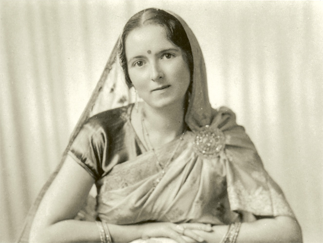 Photograph of Savitri Devi, 20th Century founding figure of esoteric Nazism, taken 1 December 1937.