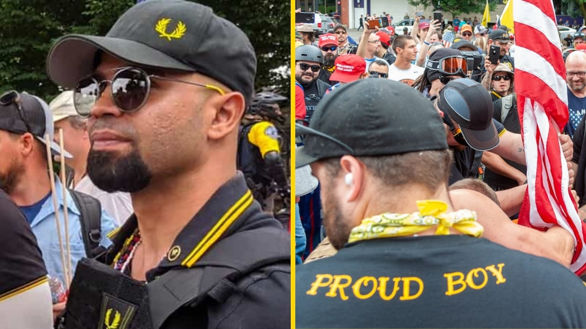 Proud Boys counter-protesters clash – September 27, 2020 (Mohammed Berrada/Creative Commons)