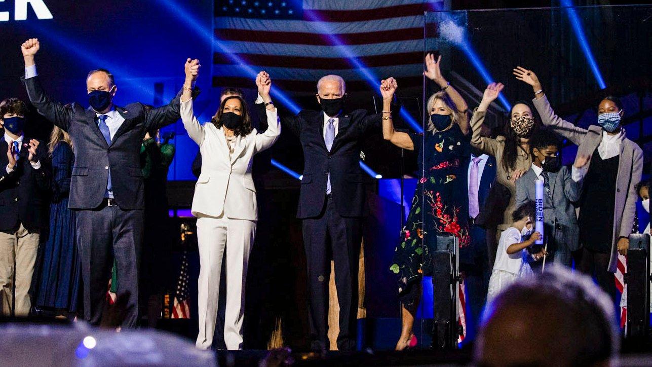 President-elect Joe Biden and Vice President-elect Kamala Harris celebrate their election victory – November 7, 2020 (Source: Kamala Harris/Twitter)