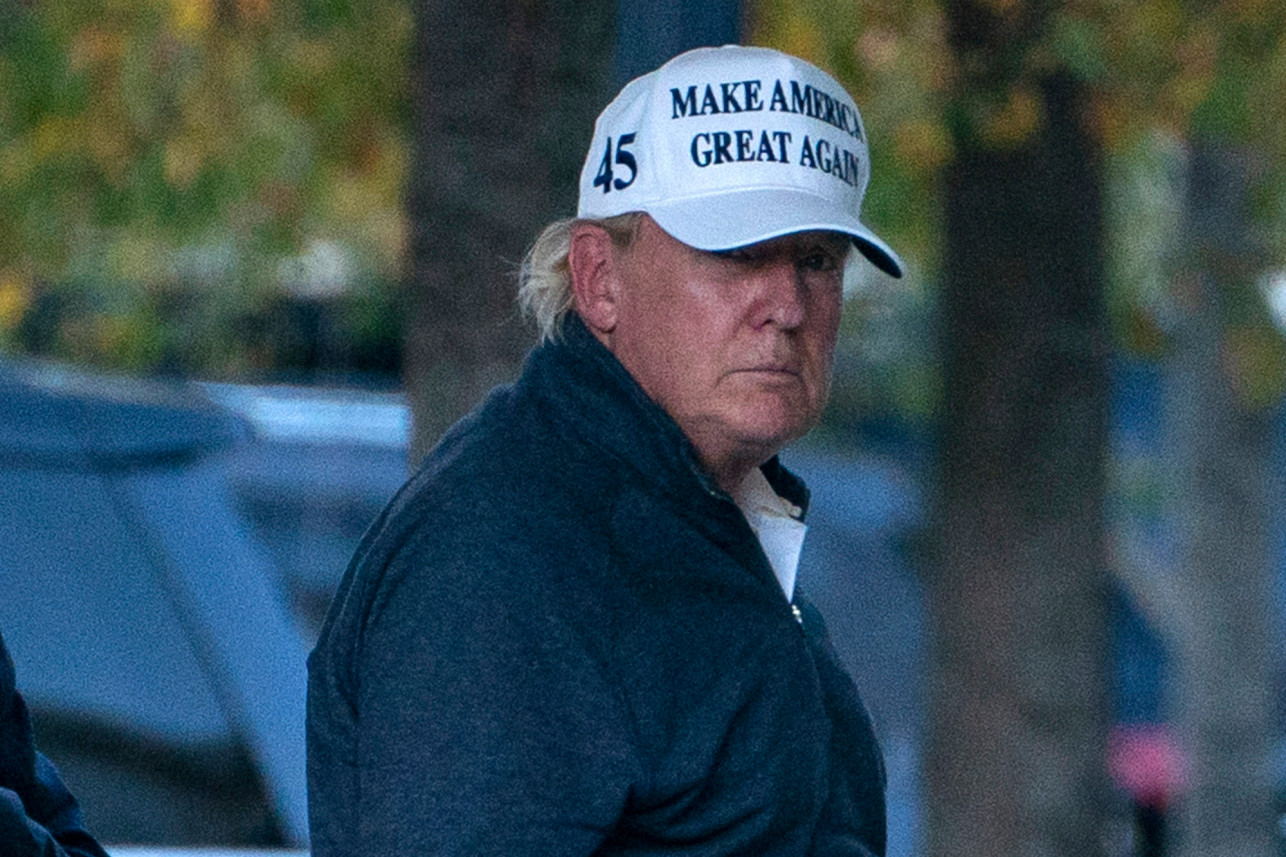 Donald Trump returning to the White House, after losing the presidential election while on his golf course – November 7, 2020. (Source: Secret Service)