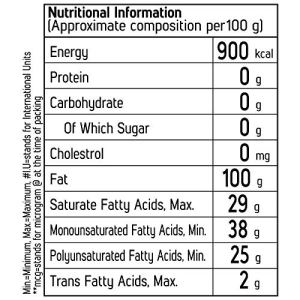 Nutritional Info of Fortune Vivo cooking oil