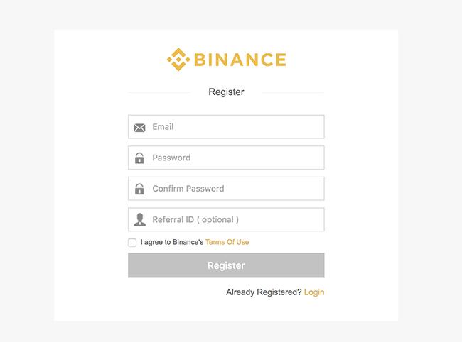 Binance.com account aanmaken