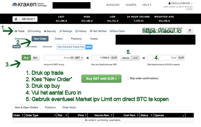 Bitcoin kopen via Kraken.com
