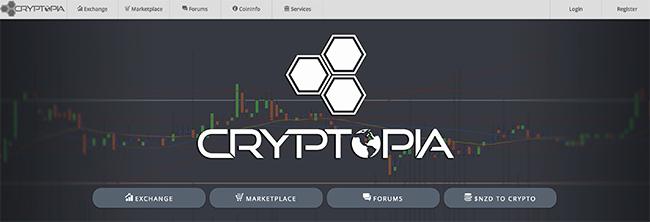Cryptopia cryptocurrency market