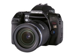 Olympus E-3 DSLR (front view)