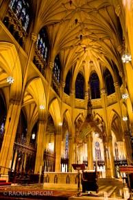 Inside St. Patrick's Cathedral, Manhattan, New York, USA.