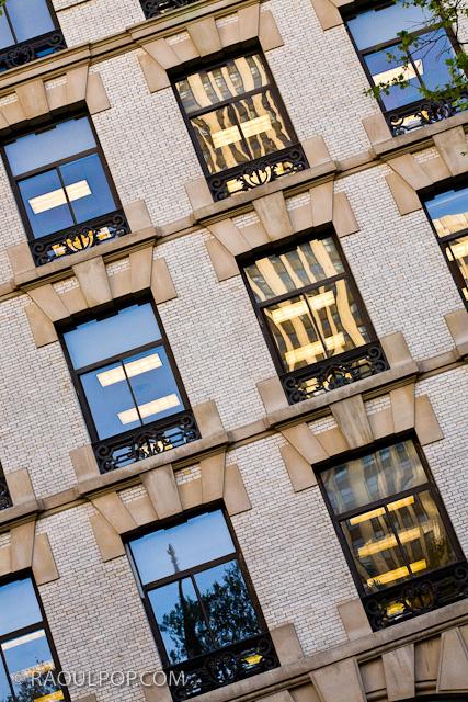 Window patterns, Manhattan, New York, USA.