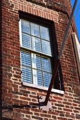 Flagpole and window