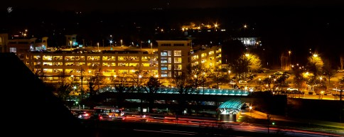 Rockville Pike at night
