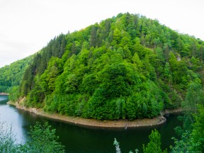 A promontory on the shores of Lacul Oasa