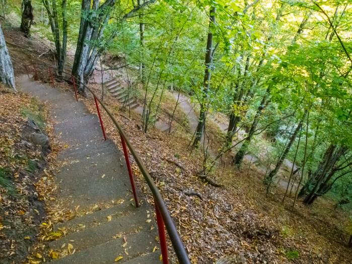 Stairs to Poenari Castle