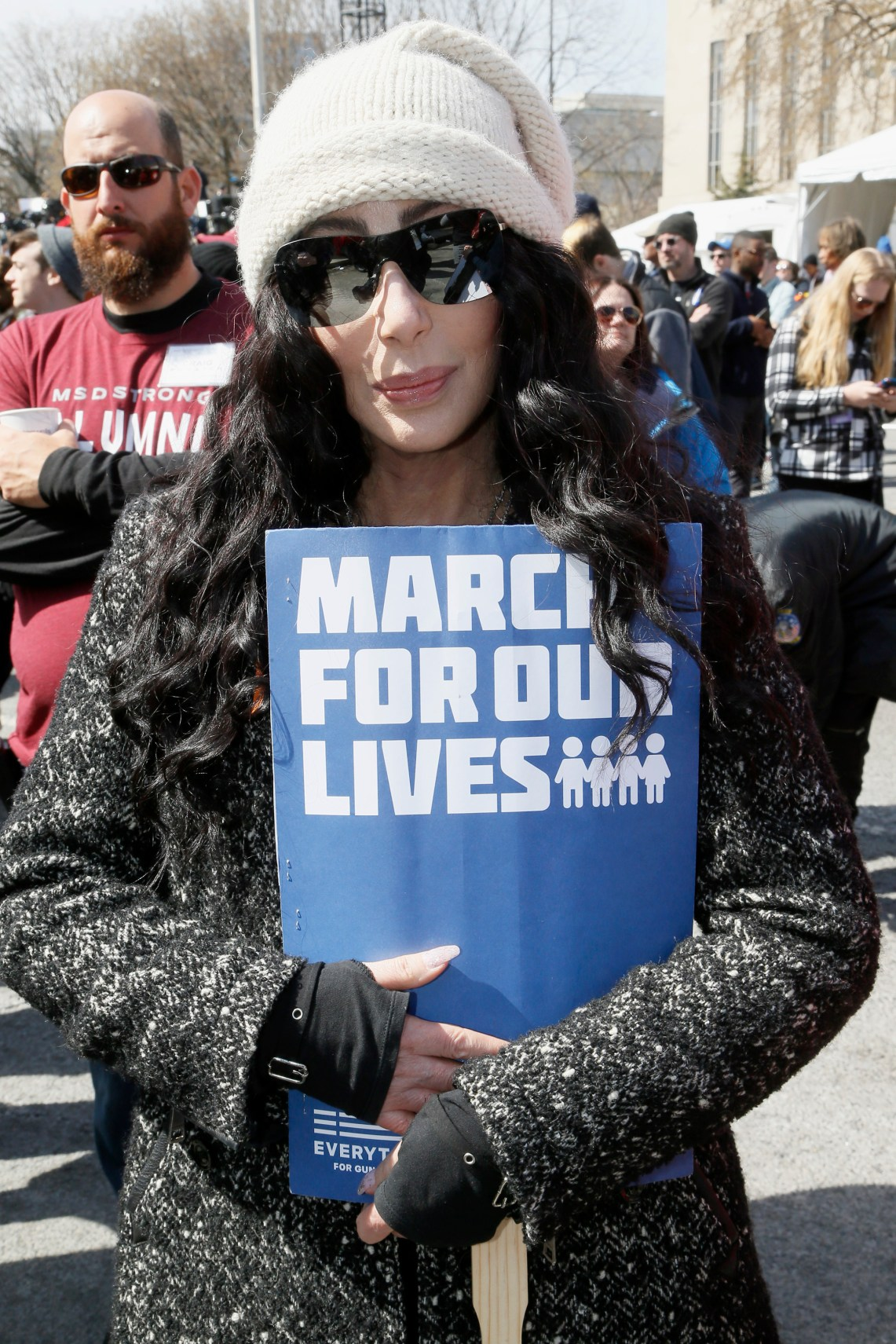 WASHINGTON, DC - MARCH 24: Cher attends March For Our Lives on March 24, 2018 in Washington, DC. (Photo by Paul Morigi/Getty Images for March For Our Lives)