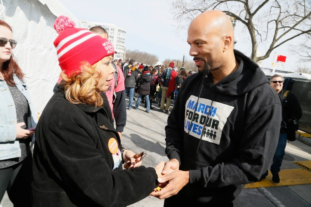 WASHINGTON, DC - MARCH 24: Lucia Kay McBath and Common attend March For Our Lives on March 24, 2018 in Washington, DC. (Photo by Paul Morigi/Getty Images for March For Our Lives)