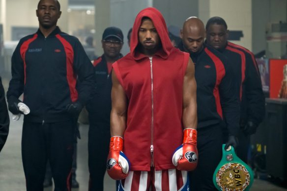 (left) Wood Harris stars as Tony 'Little Duke' Burton and (ctr) Michael B. Jordan as Adonis Creed in CREED II, a Metro Goldwyn Mayer Pictures and Warner Bros. Pictures film. Credit: Barry Wetcher / Metro Goldwyn Mayer Pictures / Warner Bros. Pictures © 2018 Metro-Goldwyn-Mayer Pictures Inc. and Warner Bros. Entertainment Inc. All Rights Reserved.
