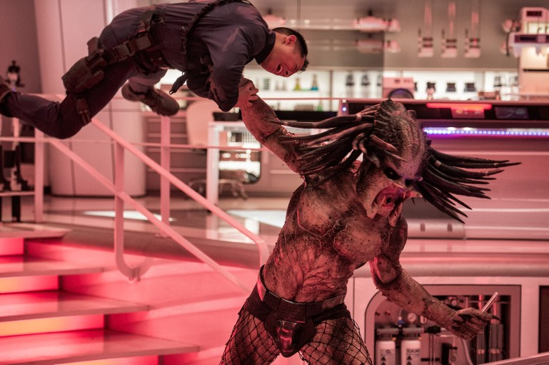 A deadly Predator escapes from a secret government compound in Twentieth Century Fox's THE PREDATOR. Photo Credit: Kimberley French.