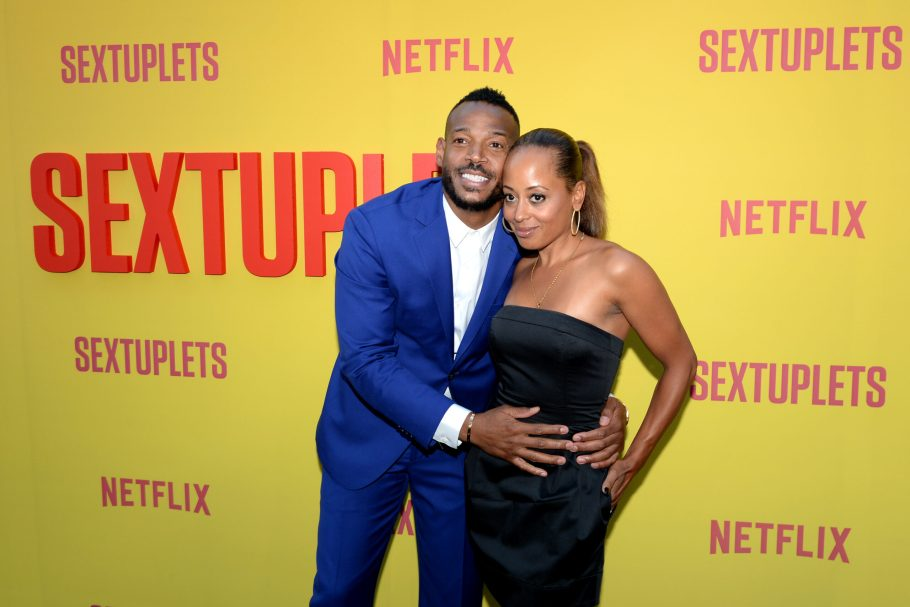 HOLLYWOOD, CALIFORNIA - AUGUST 07: Marlon Wayans and Essence Atkins attend the Netflix World Premiere Of 'SEXTUPLETS' at The Arclight Hollywood on August 07, 2019 in Hollywood, California. (Photo by Andrew Toth/Getty Images for Netflix)