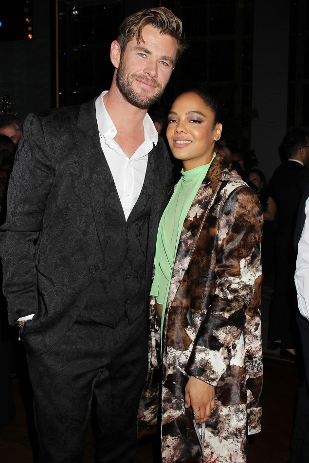 """- New York, NY - 6/11/19 - The World Premiere of Columbia Pictures """"Men In Black: International"""" - After Party -Pictured: Chris Hemsworth, Tessa Thompson -Photo by: Dave Allocca/Starpix -Location: Rainbow Room"""