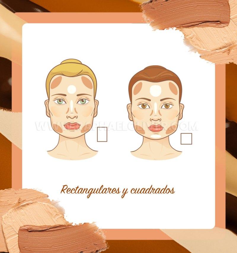 Cómo contornear los rostros rectangulares y cuadrados