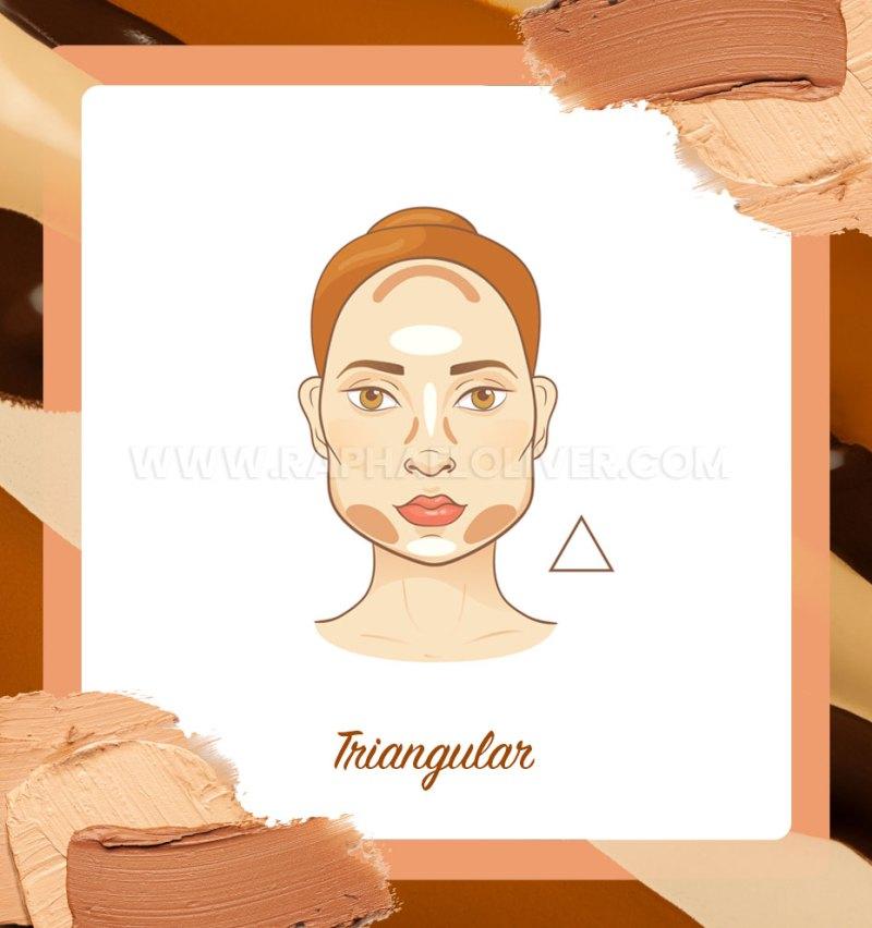 Cómo hacer contorno para el rostro triangular