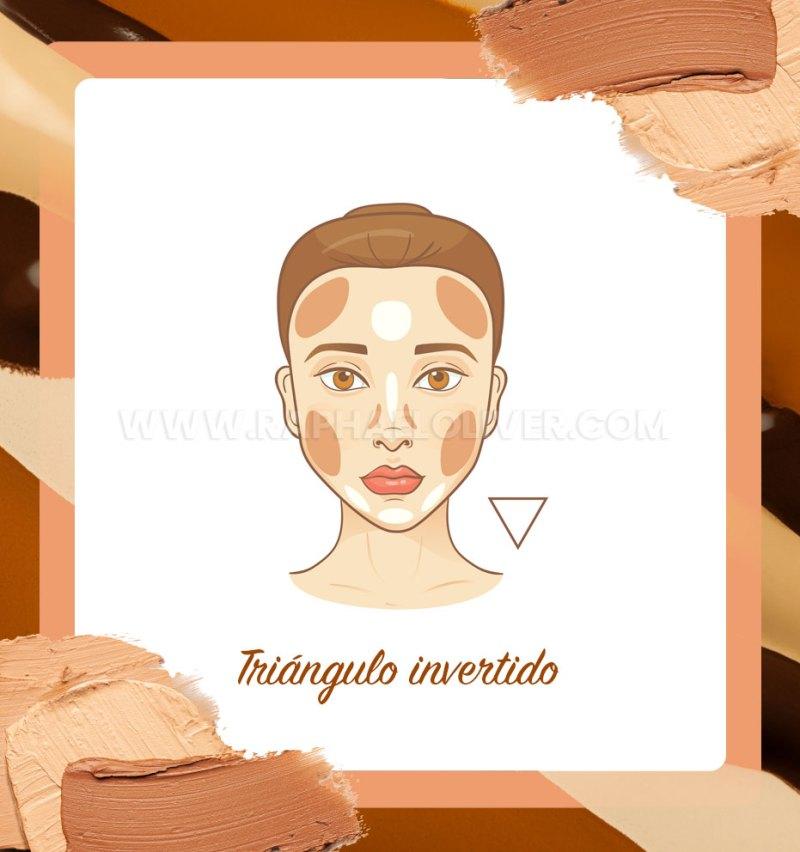 Cómo hacer el contorno del rostro del triángulo invertido