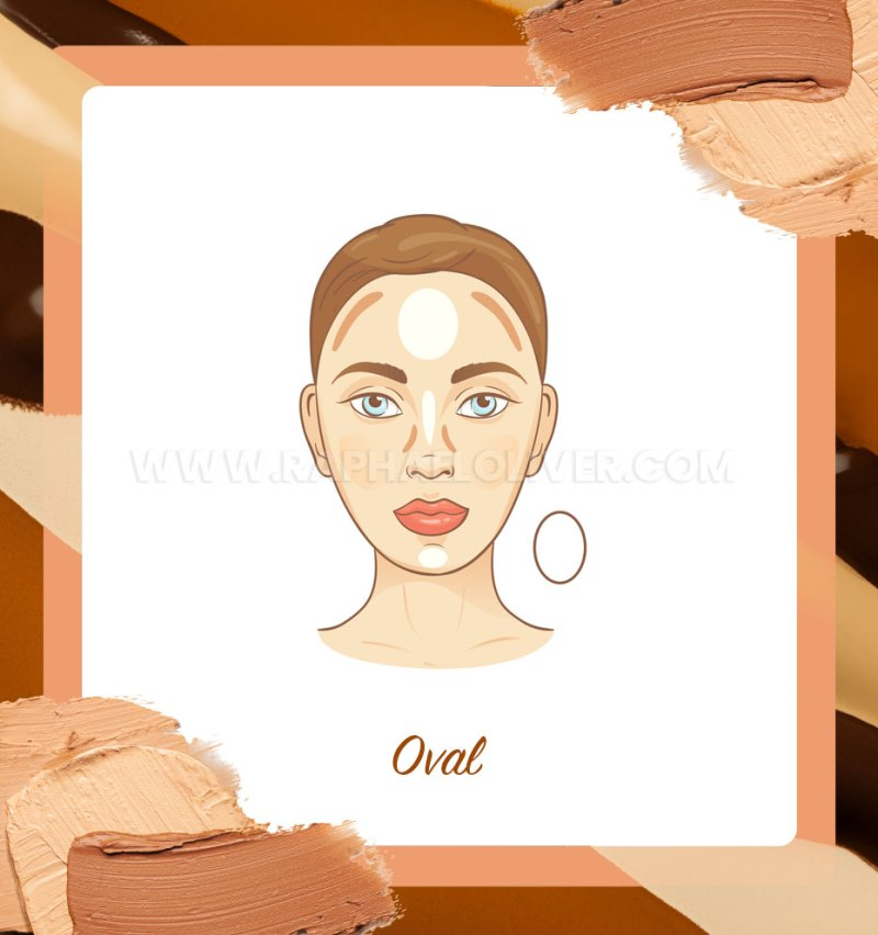 How to apply contour on oval face