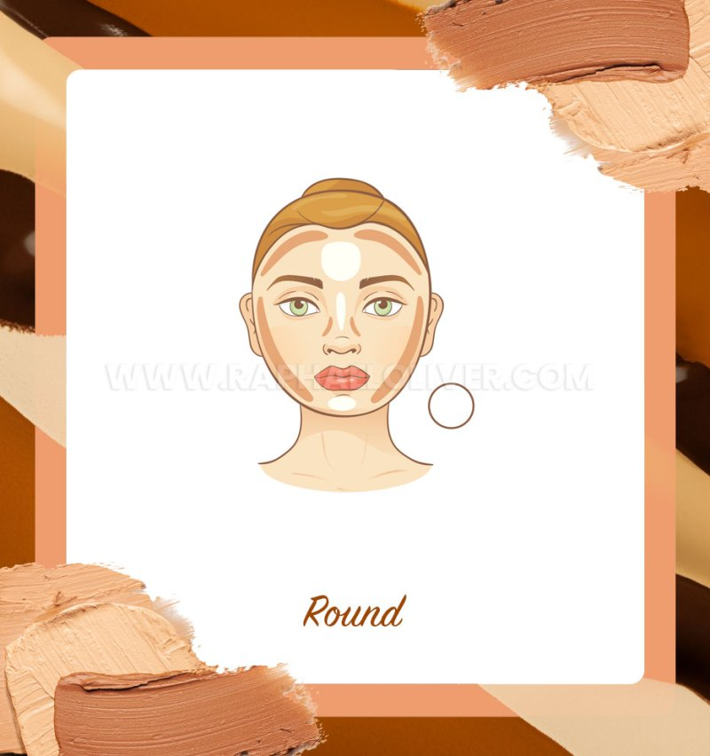 How to apply contour on round face