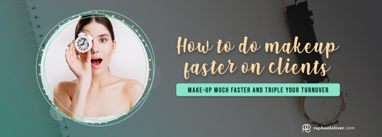 Makeup Artist: How to do makeup faster on clients - Raphael Oliver