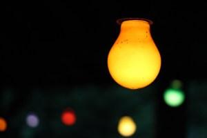 Bunte Party-Lichter