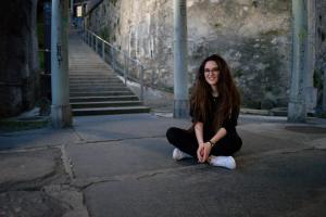 Fotoshooting mit Veronica Fusaro beim Schloss Thun