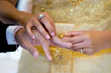 Hochzeitsfotografie - Ring bei der Trauung