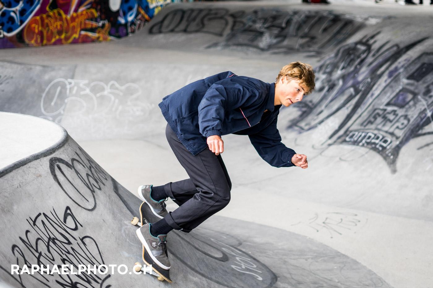 im neuen Skatepark in der Schützenmatte Bern