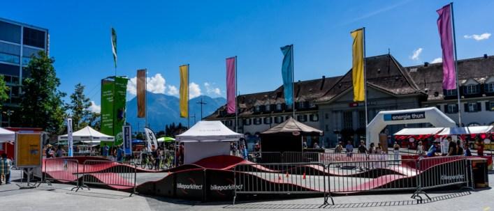 BMX-Trail am Thunfest auf dem Aarefeldplatz vor dem Bahnhof