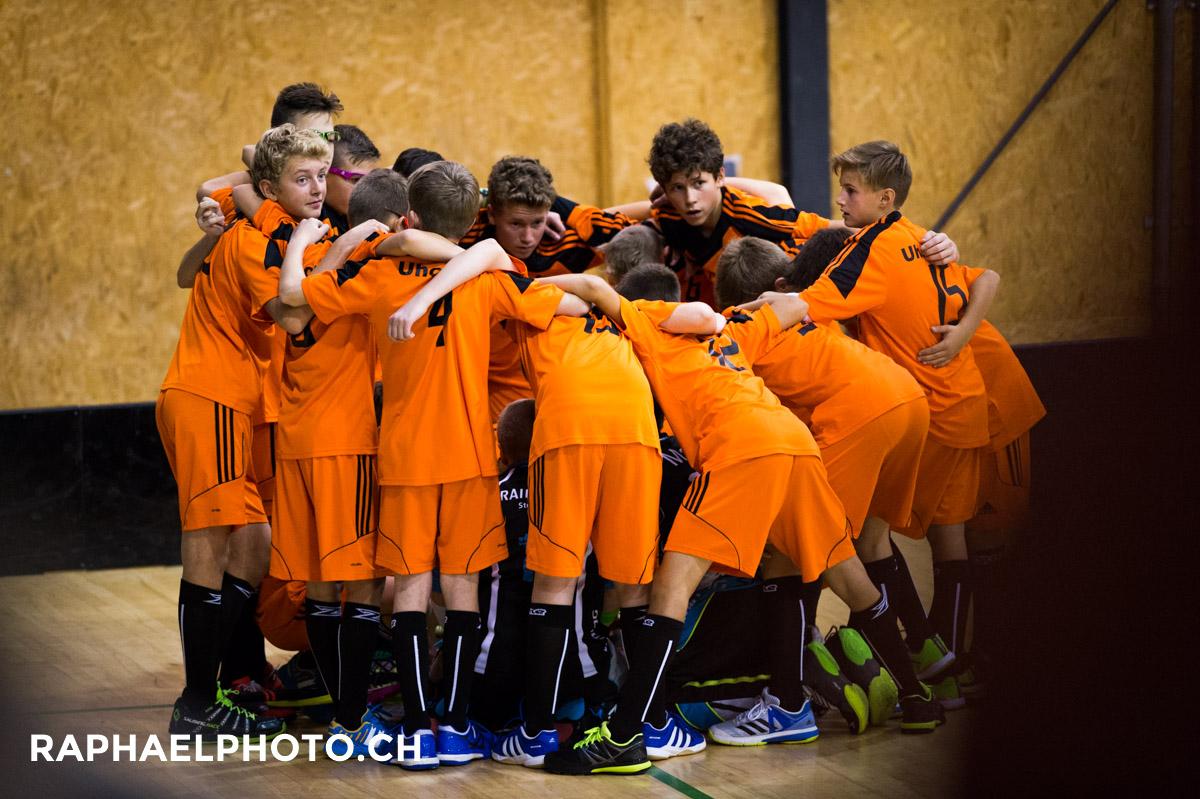 Unihockeyspiel vom UHC Thun gegen Frutigen in der MUR-Halle in Thun